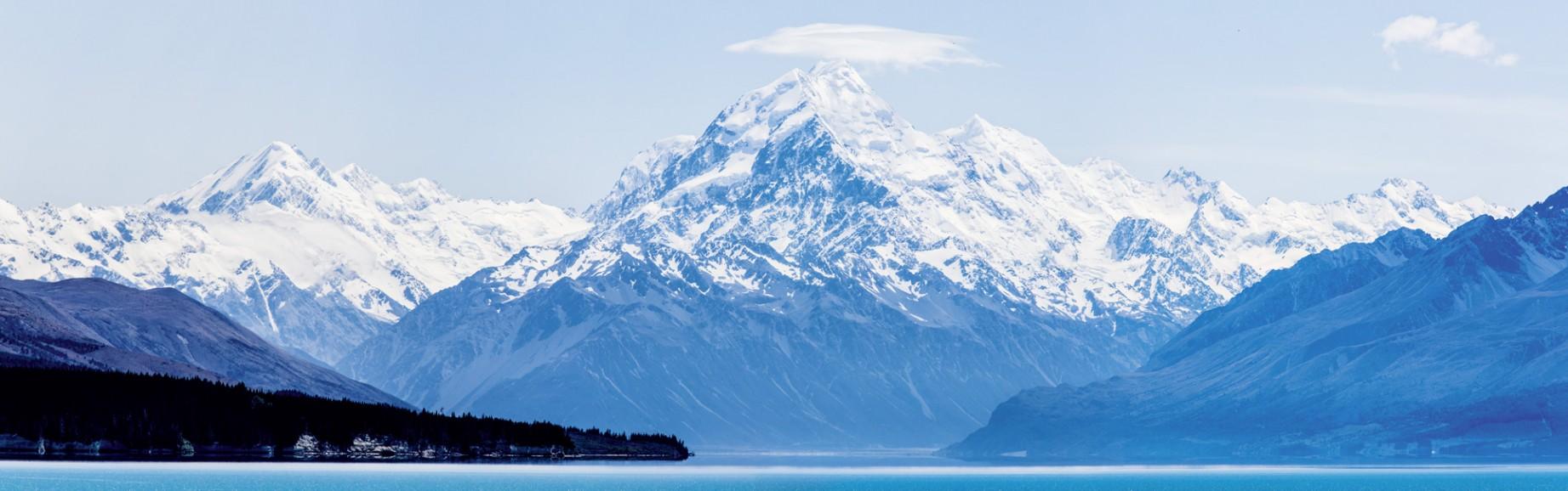 Der höchste Neuseeländer: Mount Cook über dem Lake Pukaki