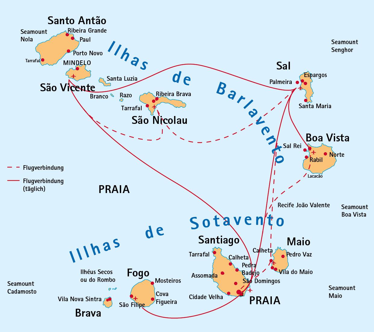 Wo Liegt Kapverden Karte.Kapverden Faszinierendes Inselarchipel Fernweh Das Schweizer